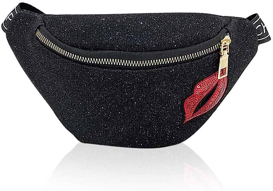 Cute Black Girls Travel Fanny Pack Cool Women Belt Bag Waist Pouch Bum Pack Purse Fancy Kids Fanny Pack