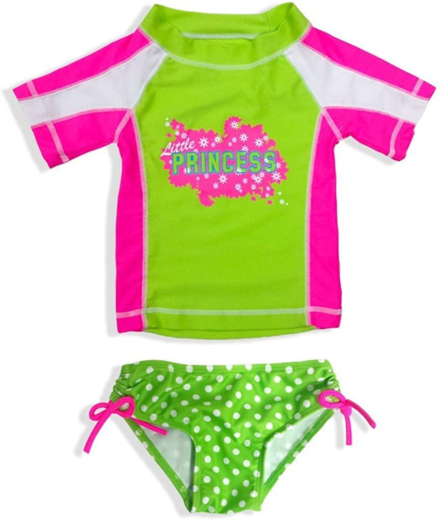 Jump N' Splash Little Girls 2-Piece Rashguard Swim Set