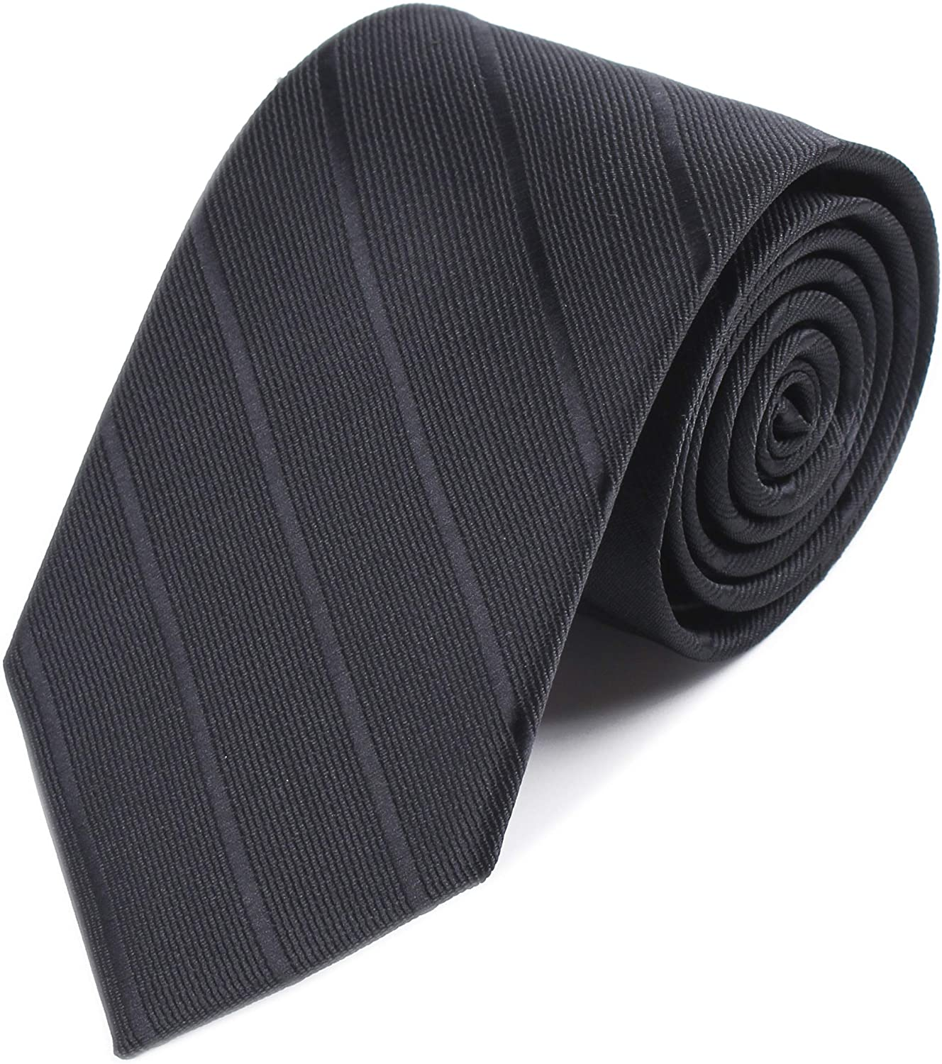 Men Modern Stripe Formal Ties Skinny Fashion Business Textured Neckties 7cm