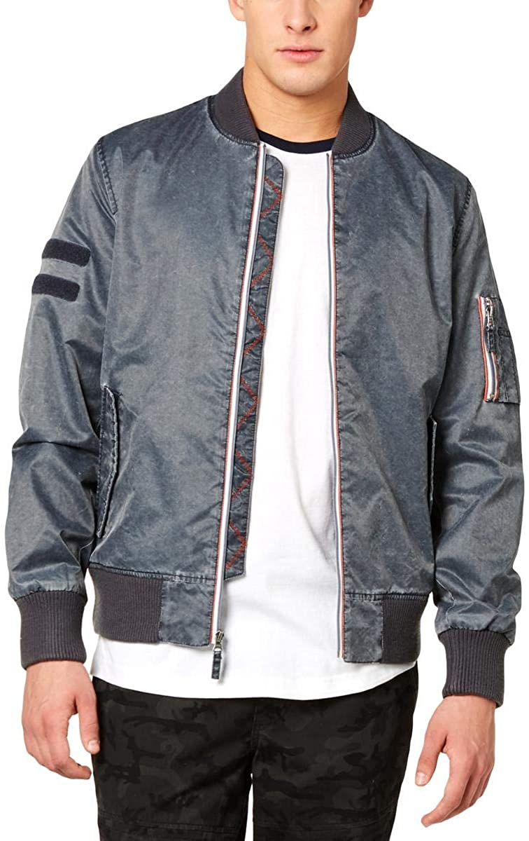 American Rag Mens Washed Nylon Bomber Jacket