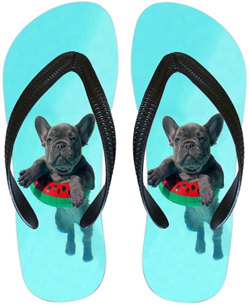 YIYIDA Women's/Men's Colorful Printing Cartoon Graffiti Summer Beach Slippers Flip Flops Sandals