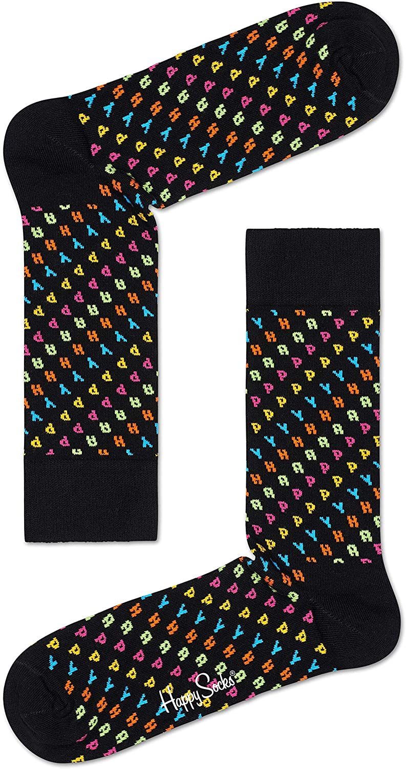 Happy Socks Unisex 'HAPPY' printed All Around Socks