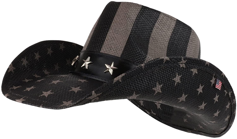 Armycrew American Flag Freedom Stripe Western Cowgirl Cowboy Hat