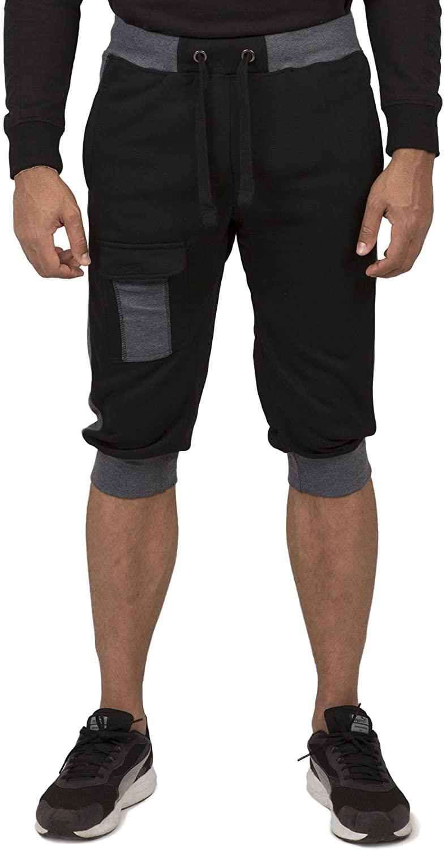 Vibes Men's Fleece Cargo Jogger Capri 18