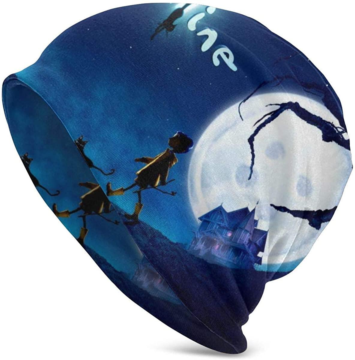Dxddsdks Coraline Thin Unisex Adult Knit Hats Beanie Hat Winter Warm Printing Cap Black