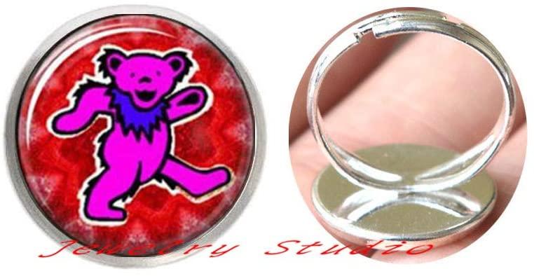Bear Ring,Bear Charm Ring,Bear Jewellery,Bear Lover Gift Idea,Jewelry Art Gift for Her-HZ0237