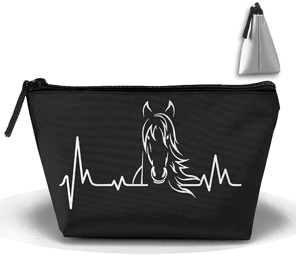 HTSS Horse Heartbeat Portable Makeup Receive Bag Storage Large Capacity Bags Hand Travel Wash Bag