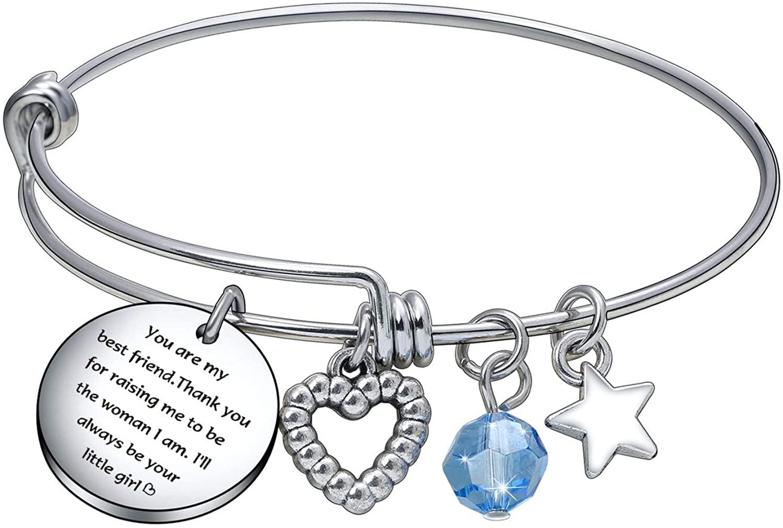 De&ai Mom Appreciation Christmas Bracelet, Moms Aunts Grandma Wedding Birthday Jewelry
