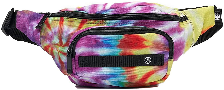 neff Men's waistpack, tripper dye, One Size