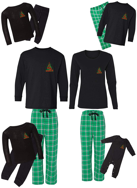 Awkward Styles Family Christmas Pajamas Set Green Gifts Tree Matching Sleepwear