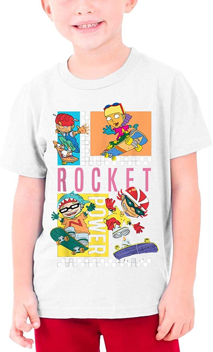 Teen Denim Rocket Power Checkerboard Your T-Shirt Handsome Short Sleeve T-Shirt Junior Top