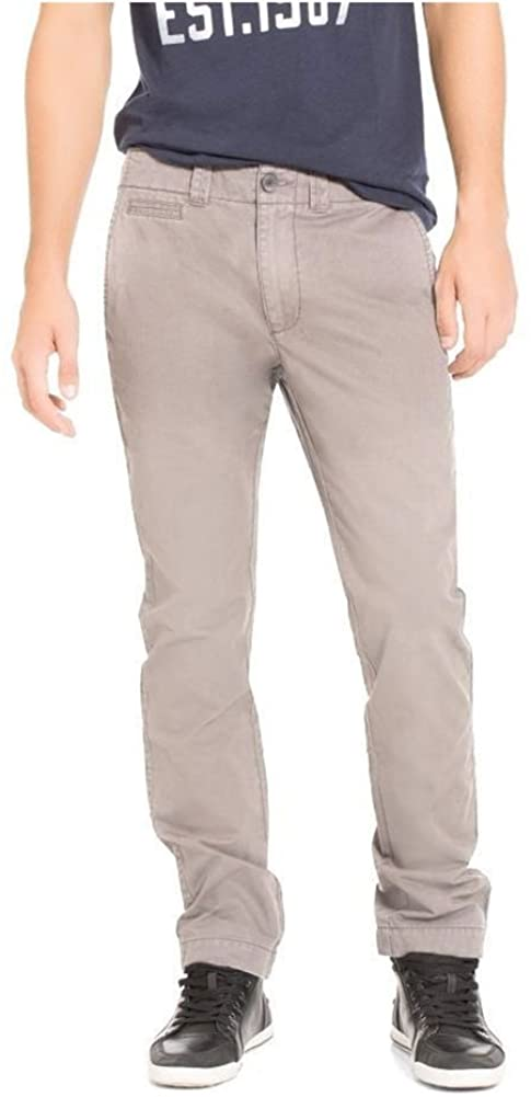 Aeropostale Mens Slim Straight Color Casual Chino Pants