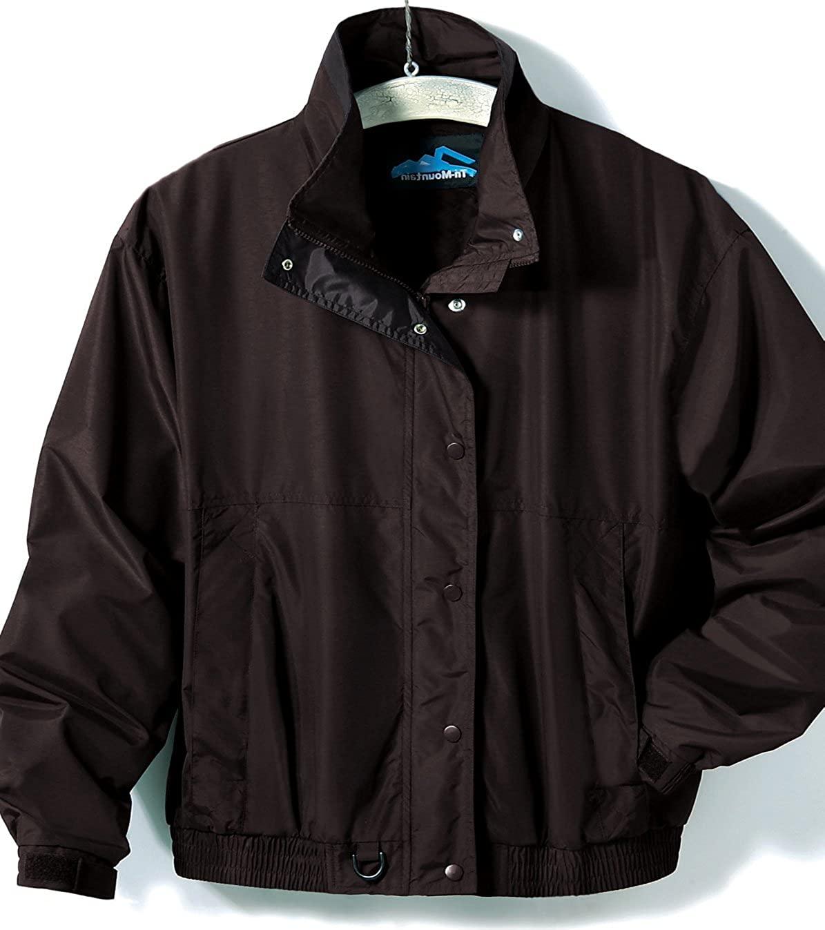 Premium Quality Men's Tall Sizes Heavyweight Nylon Back Country Jacket - Black