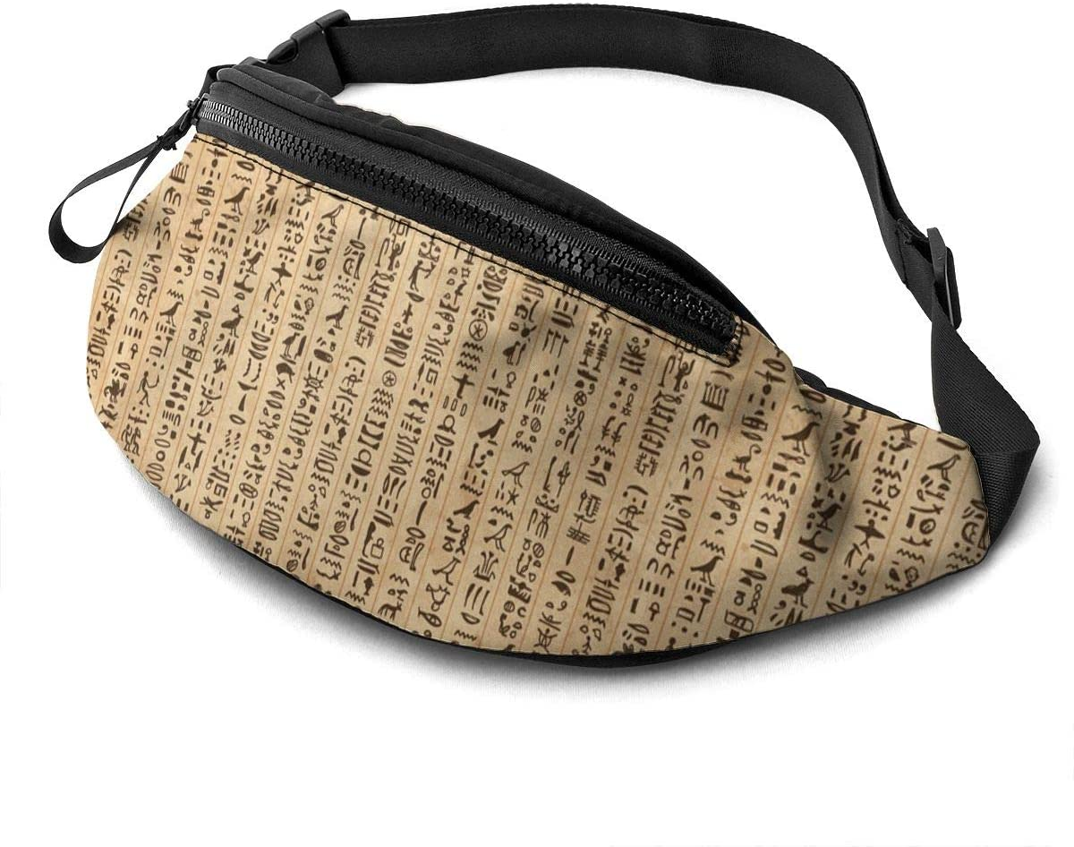 Egypt Hieroglyphs Pattern Fanny Pack Fashion Waist Bag