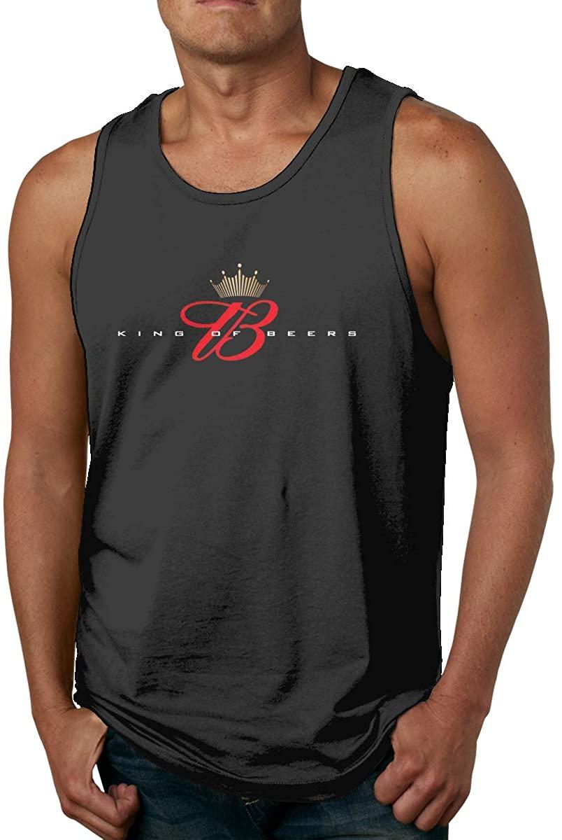 Aiyuke Fashion Budweiser Men's Casual Tank Tops Sleeveless Graphics T-Shirt