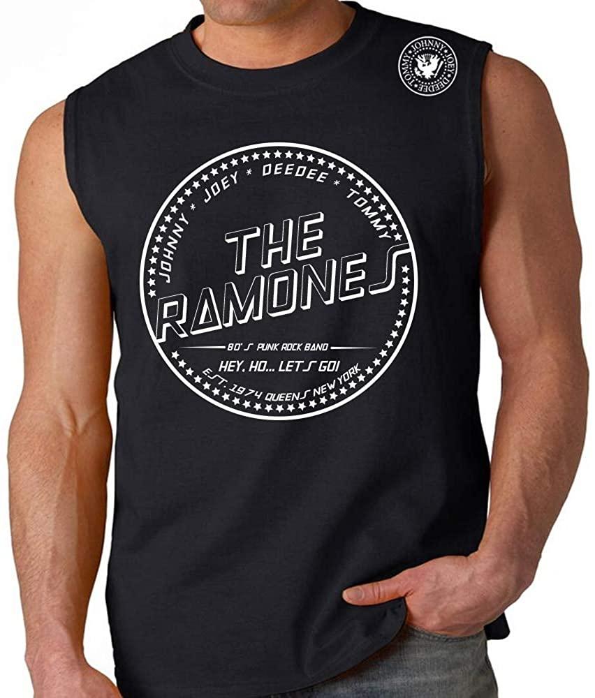 The Ramones Shoulder Shield Logo Muscle Sleeveless t Shirt Tank Top Retro Classic Rock Band