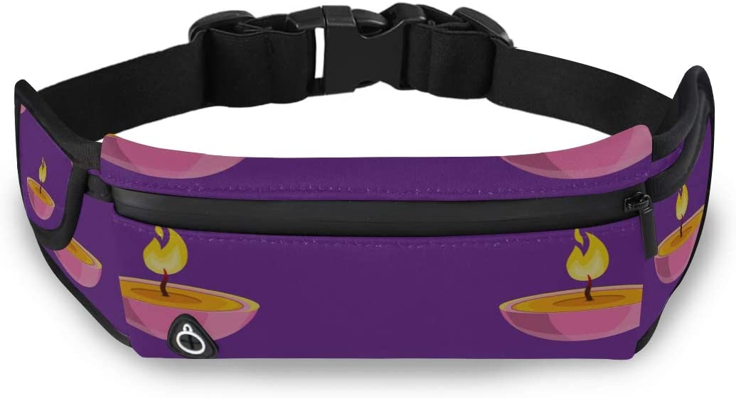 Candle Fire Warm Comfort Fashion Fanny Packs Professional Waist Pack Womens Waist Bag With Adjustable Strap For Workout Traveling Running