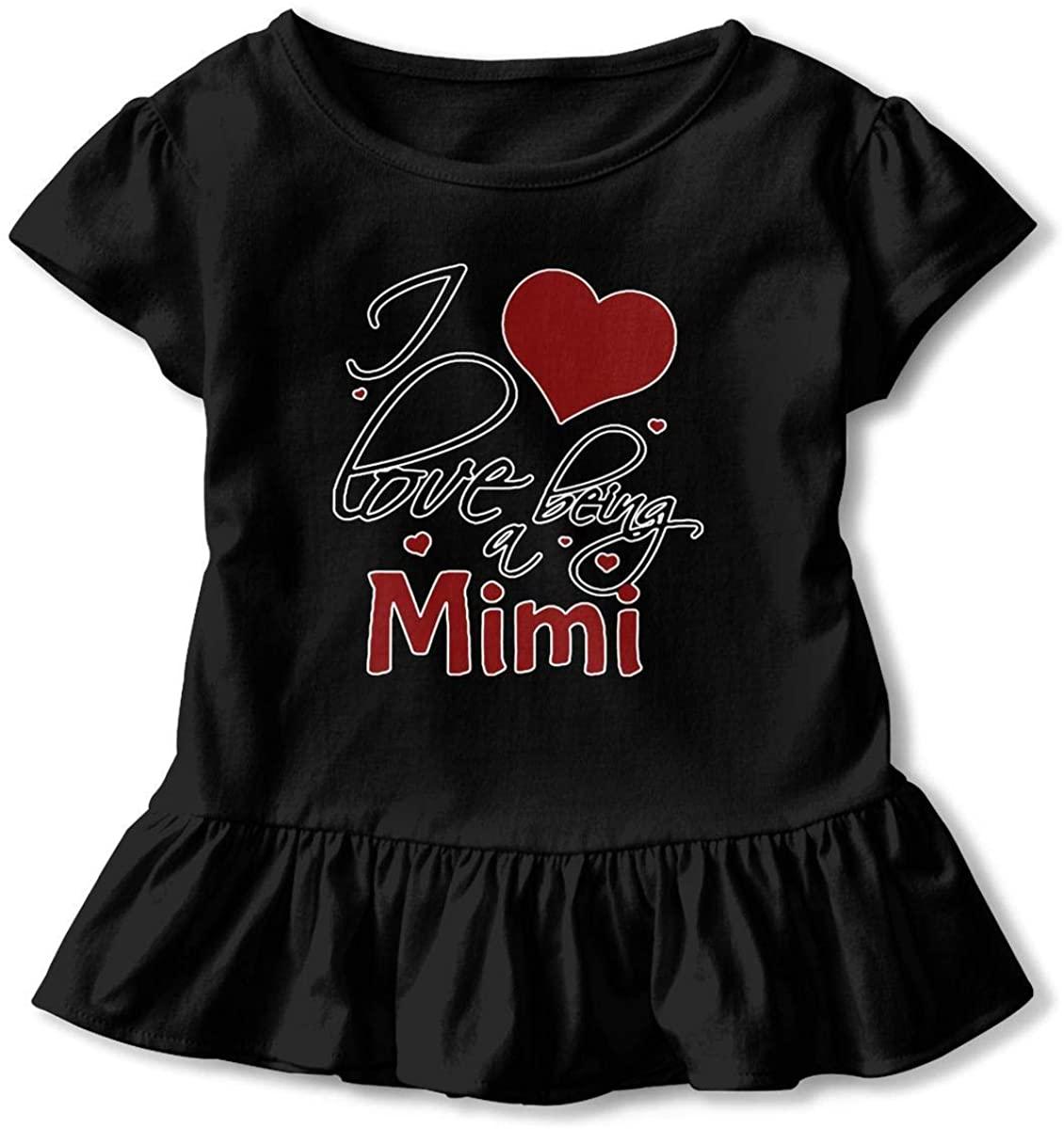 ChenYeSheng Loved by Mimi Little Girls' Ruffle Short Sleeve Cute Cotton T Shirts