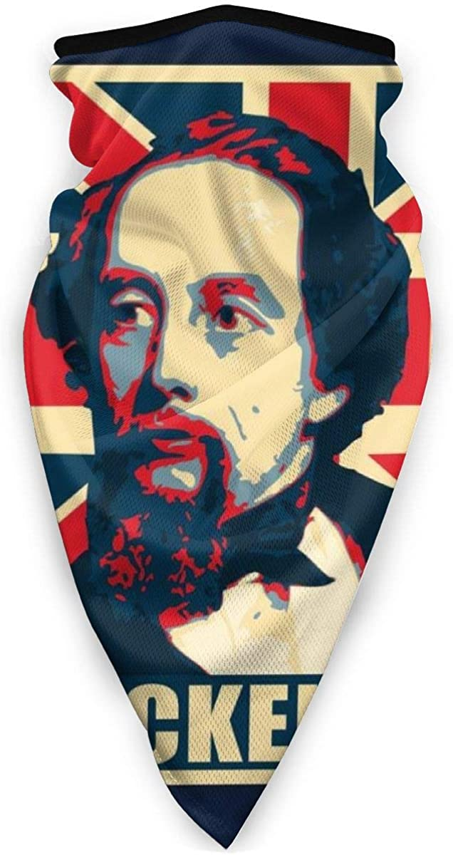 Charles Dickens Pop Art Face Mask Bandanas for Dust, Outdoors, Festivals, Sports