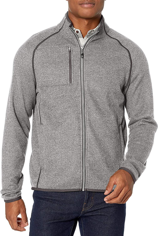 Cutter & Buck Men's Full Zip Jacket, Grey, XXX-Large