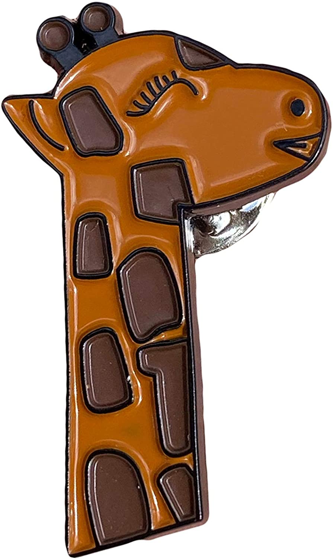 Giraffe enamel pin. Designed in USA, shipped from USA