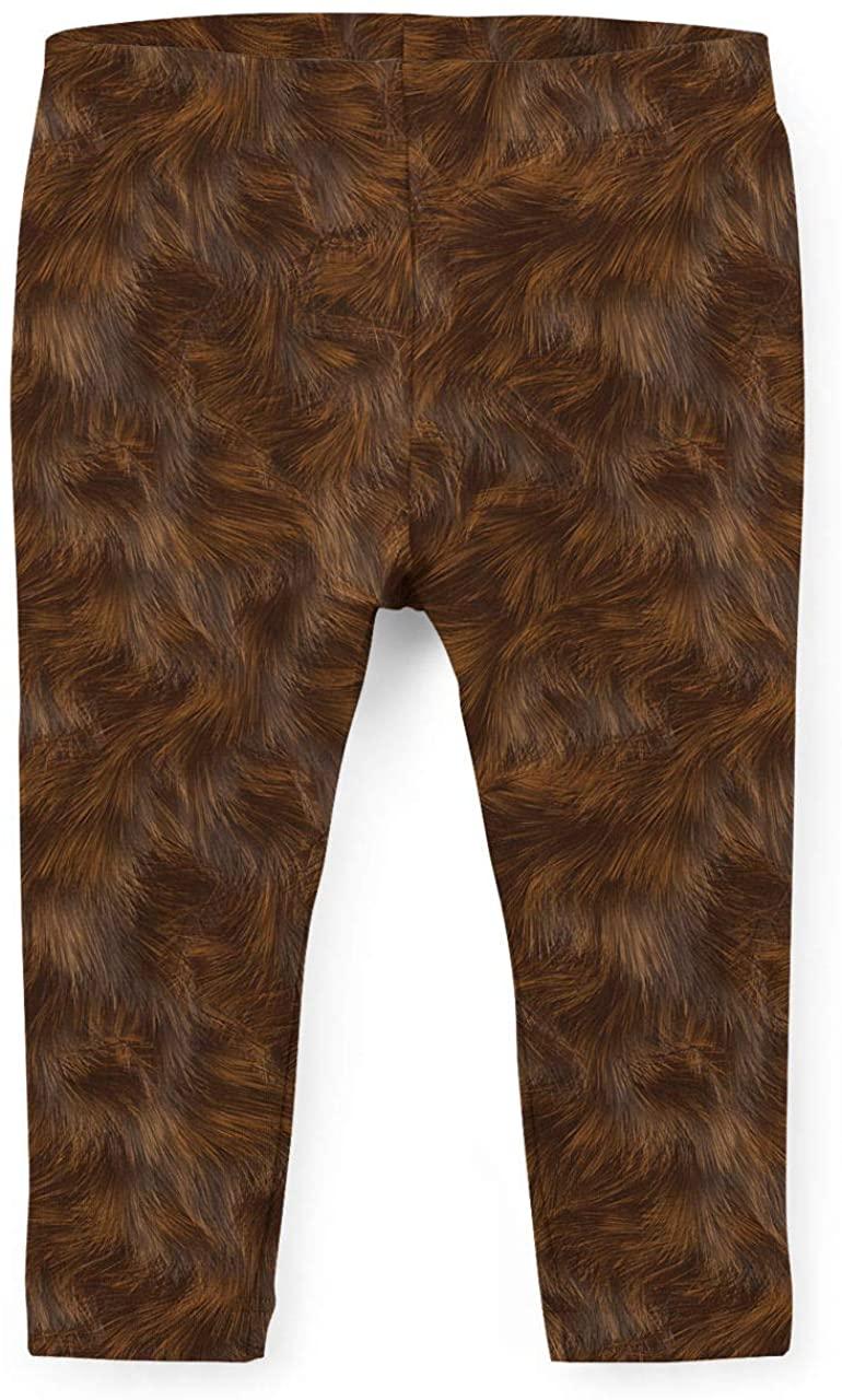 Wookie Fur Star Wars Inspired Kids Leggings - 14 Brown