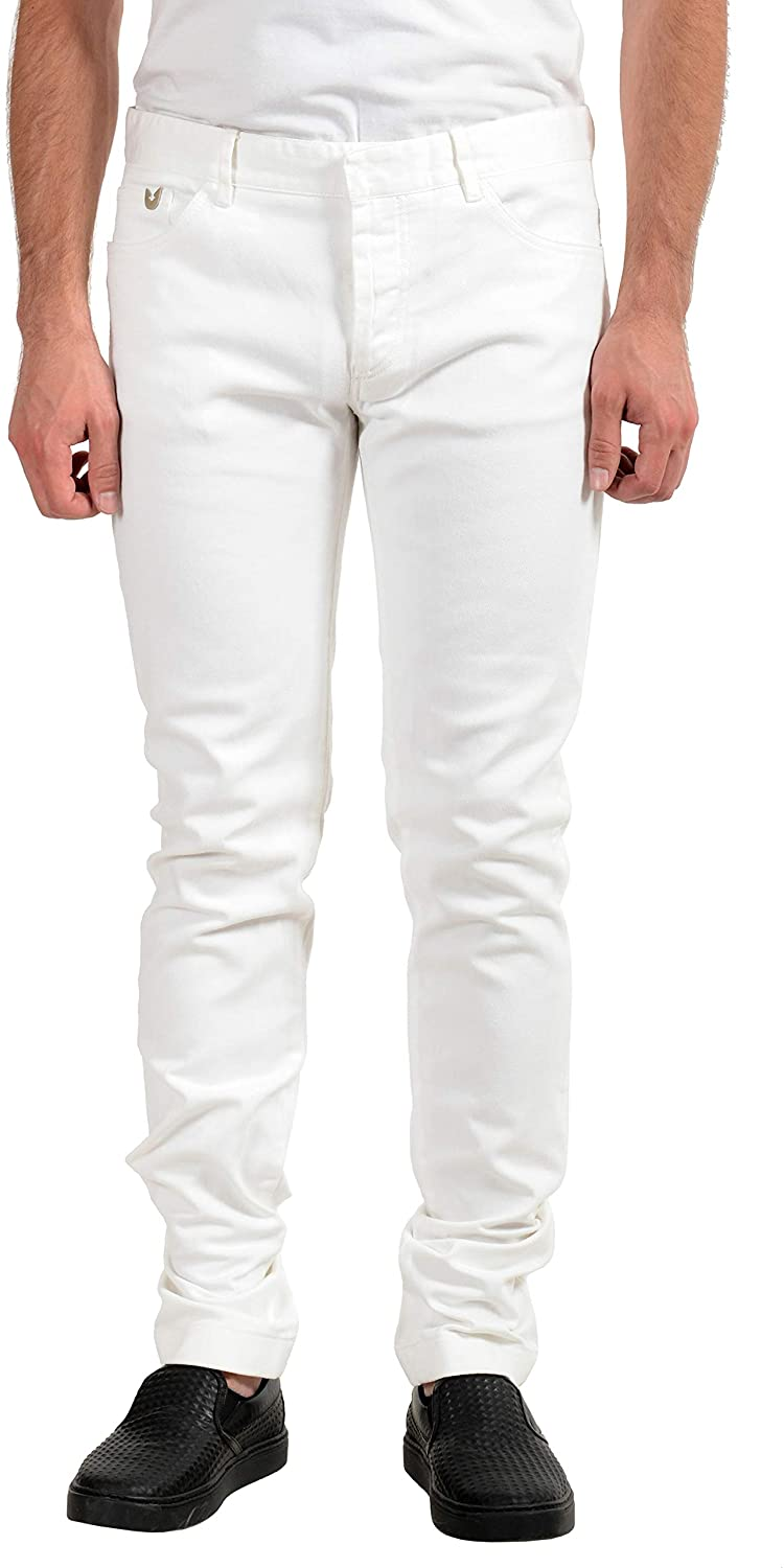 Gianfranco Ferre Men's White Stretch Slim Jeans US 38 IT 54