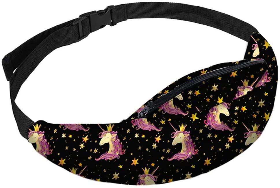 Waist Pack Waist Bag Fitness Belt Bag With Pattern Printing Waist Pack Travelling Mobile Phone Bum Bag
