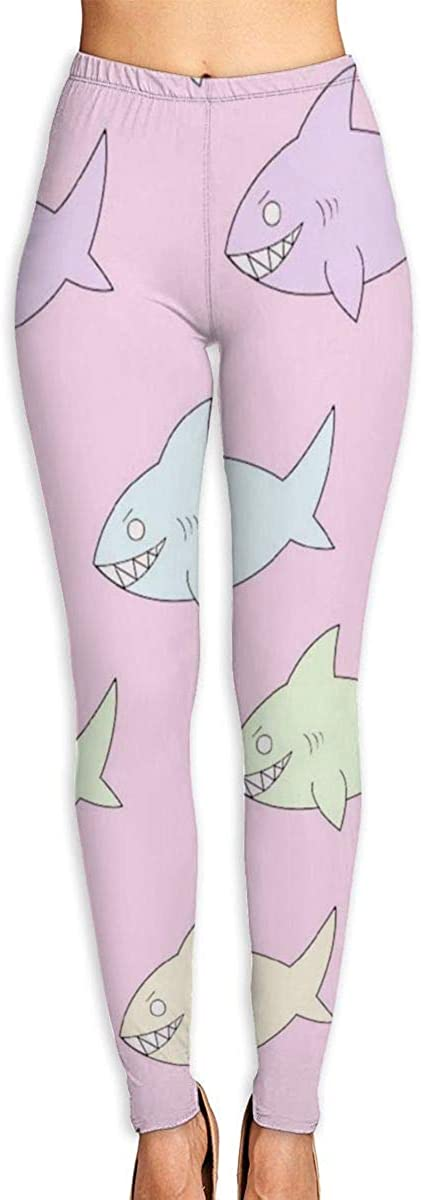 Game Life Leggings with Cartoon Shark Yoga Pants Trousers Sweatpants