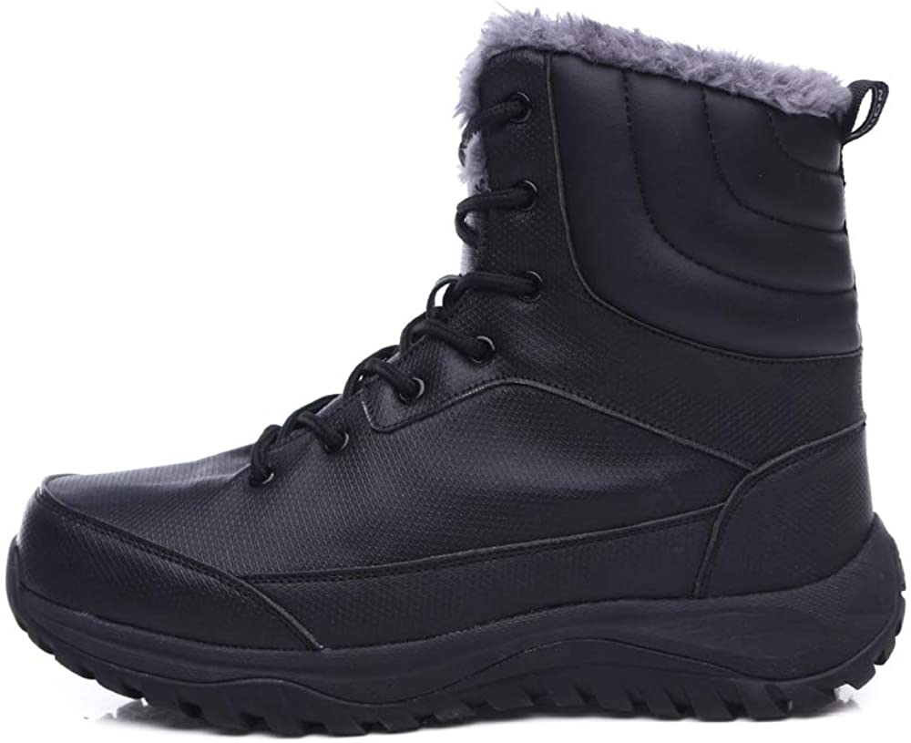 Winter Outdoor Men's Snow Boots High To Help Comfortable and Casual Waterproof Fashion Plus Velvet Warm Shoes