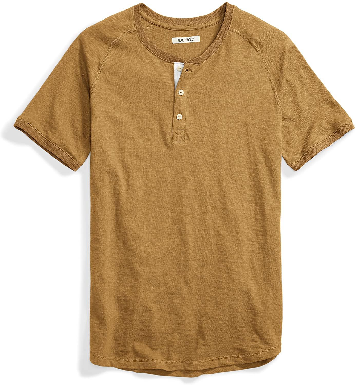DHgate Brand - Goodthreads Men's Short-Sleeve Lightweight Slub Henley