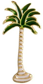 Harva Brooches - Simple Cartoon Green Plant Pins DIY Button Pin Denim Jacket Pin Gift Jewelry Coconut Tree Mexican Cactus Leaf Alloy Brooch Pins - (Metal Color: H01)