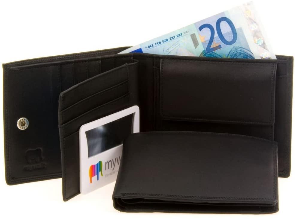 MyWalit 8 C/C Large Flap Men's Wallet w/BriteLite by MyWalit - Black