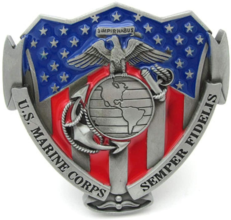 US Marine Corps Belt Buckle Semper Fi Marines Fidelis