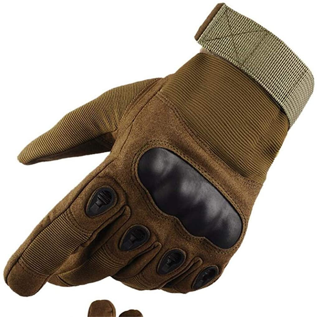 Youngate Mens Hard Knuckle Motorcycle Military Combat Training Outdoor Gloves