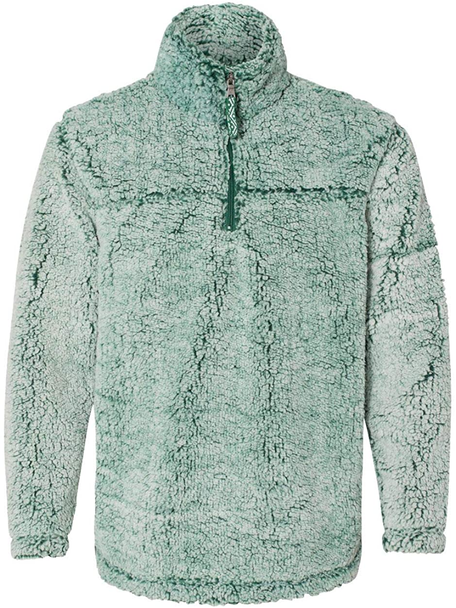 Frosty Hunter Unisex Sherpa Fleece Quarter-Zip Pullover