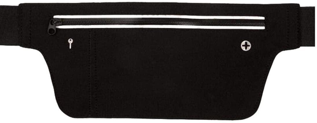 WENNEW Waist Bag Outdoor Functional Multifunctional Sports Fanny Pack Elastic Lycra Mobile Raincoat Belt (Color : Black)