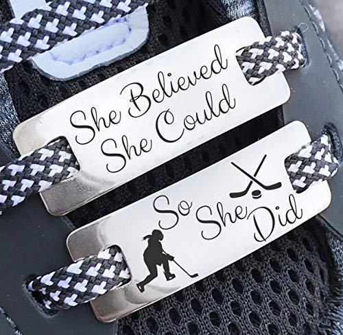 Hockey Gifts,Hockey Skate Charm,Girls Hockey Gifts,Hockey Gifts Kids,Hockey Player Gifts,Shoe Lace Charms,Shoe Lace Tags,Sneaker Lace Charm