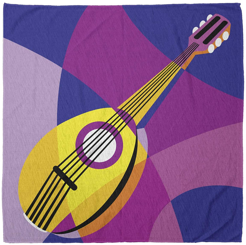 Lunarable Bandana Scarf, Dombra Uzbec Turkish Music, Multicolor