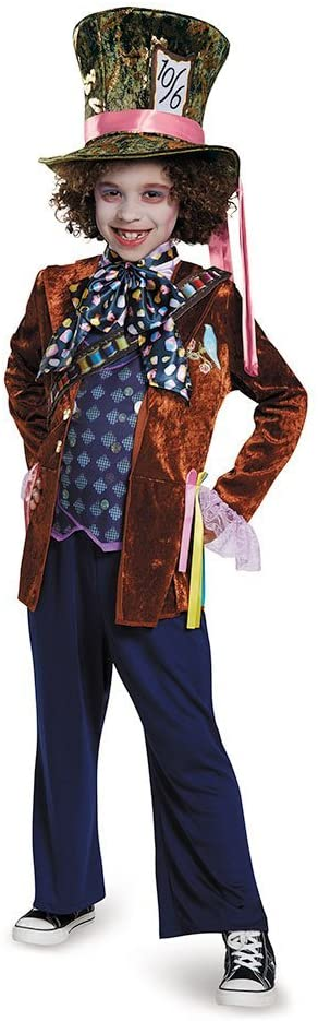 Mad Hatter Deluxe Alice Through The Looking Glass Movie Disney Costume, Medium/7-8