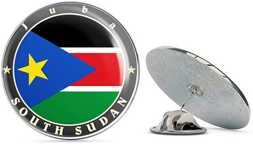 South Sudan Round Metal 0.75
