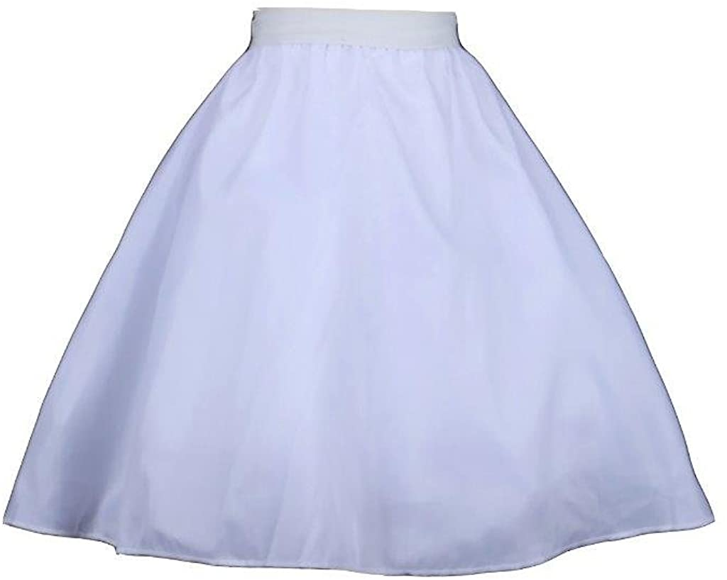 Pink Promise Wedding Flower Girl Dress Hoopless Petticoat Crinoline Slip Underskirt
