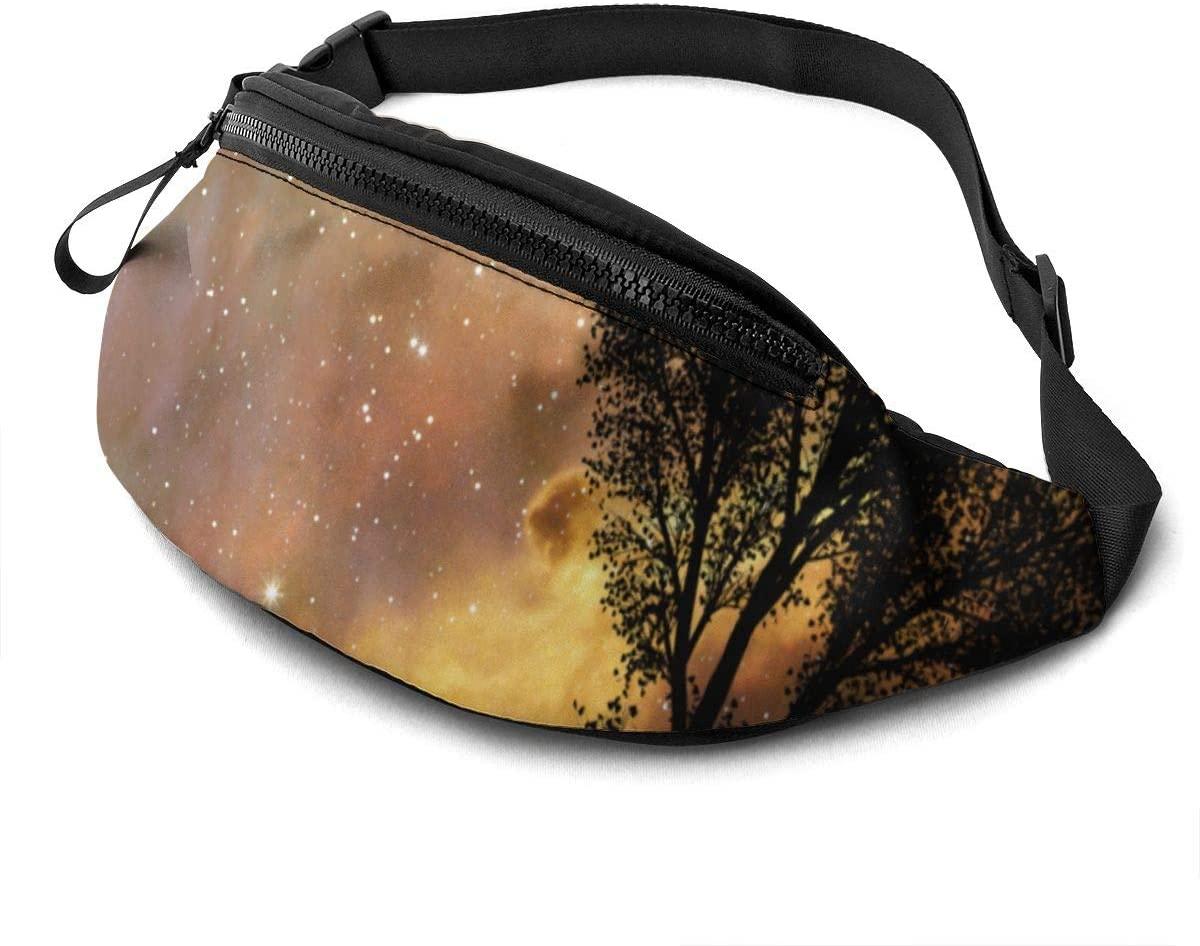 Beautiful Stars At Night Fashion Casual Waist Bag Fanny Pack Travel Bum Bags Running Pocket For Men Women