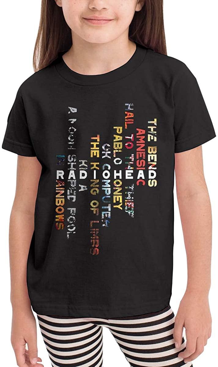 AP.Room Radiohead Logo Short-Sleeved Fashion for Children 2-6 Years Old T-Shirts Black