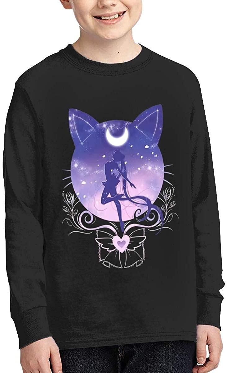 Sailor Moon Children's Unisex Boy Cotton Long-Sleeved T-Shirt Handsome T-Shirt Top