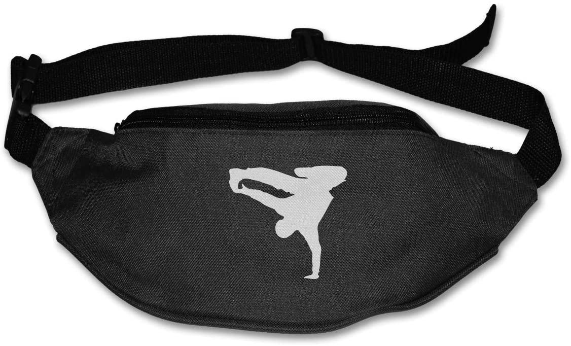 SWEET-YZ Unisex Waist Pack Break Dance Flat Fanny Bag Pack for Sport Running