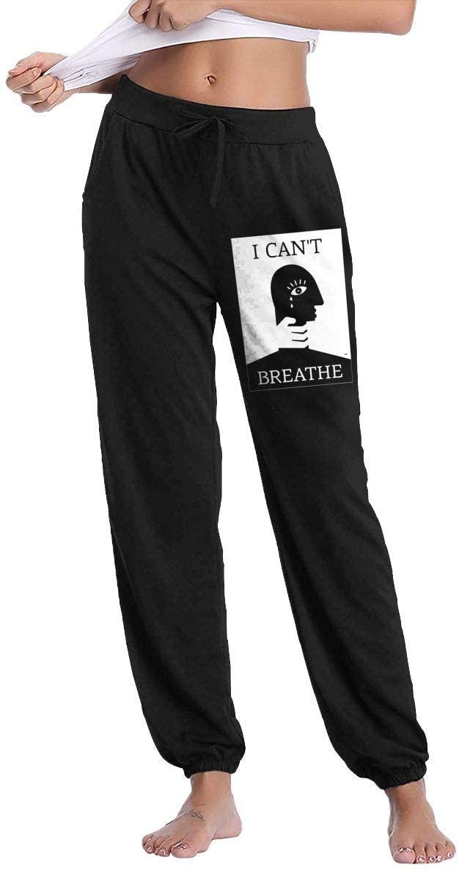 Ingqkuhua I Can't Breathe Black Lives Matter Art Slacks Sweatpants Trousers Woman Casual Pants