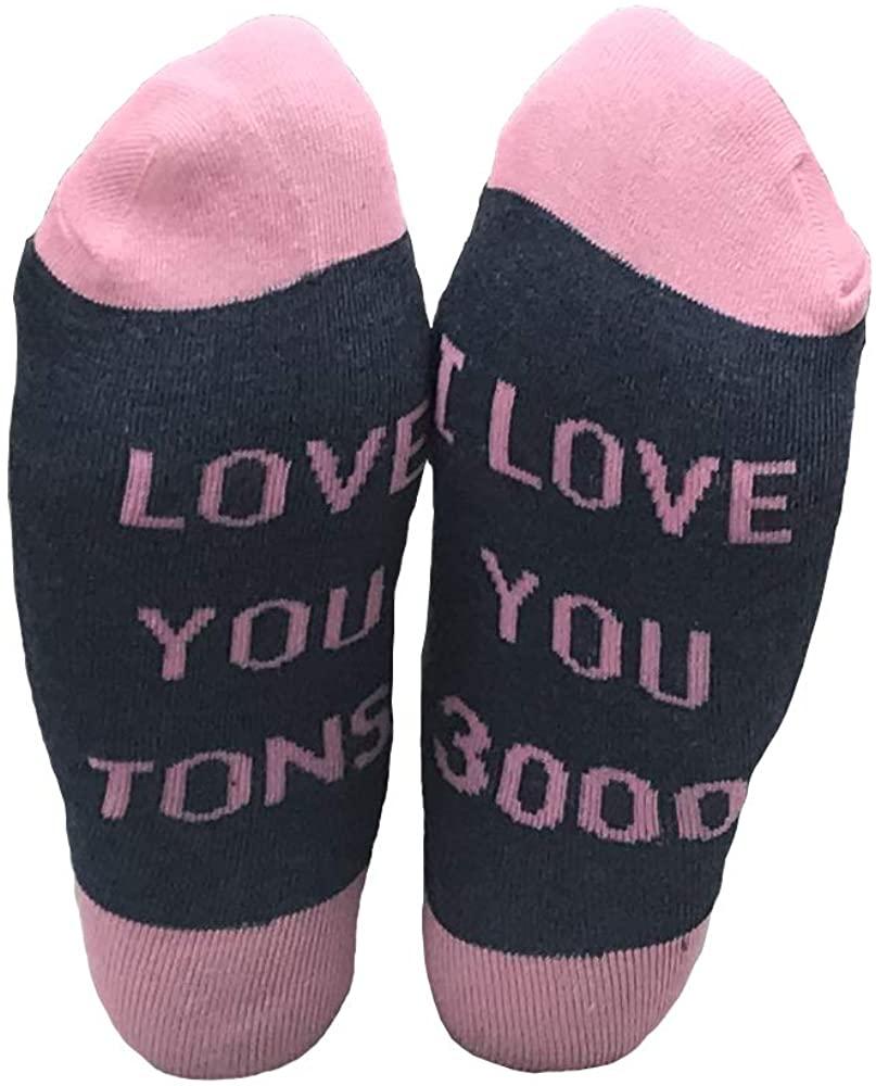Funcious I love you 3000 Novelty Socks Crew Socks Gift Idea for Dad,Mom,Lover,Children Funny Socks