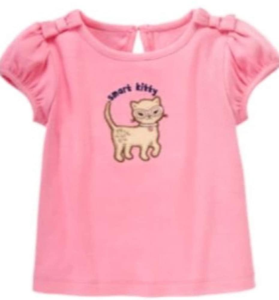 Gymboree Girls' Toddler Smart KittiesTee Pink