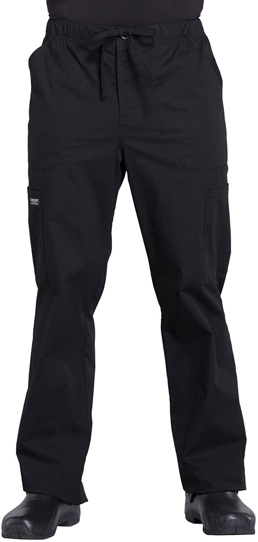Cherokee Workwear Professionals WW190 Mens Tapered Leg Pant,Black,Medium Short
